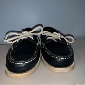 Bass Co Navy Blue Boat Shoes